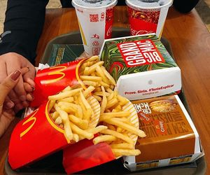 dinner, fast food, and food image