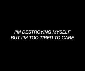 depressed, destruction, and stressed image