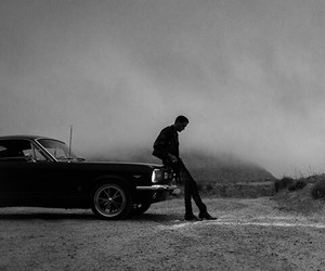 black and white, car, and g-eazy image