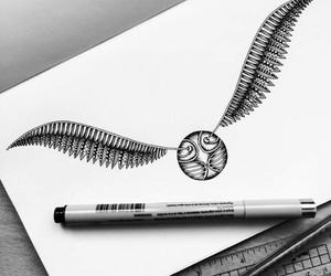 harry potter, art, and drawing image