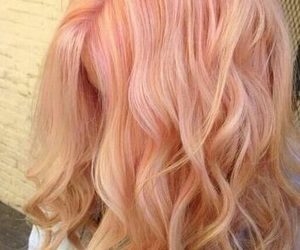 hair, peach, and pink image