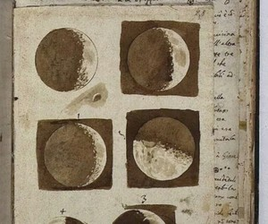 moon, vintage, and drawing image