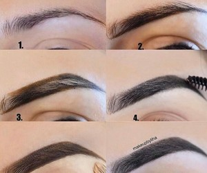 beauty, pretty, and eyebrows image