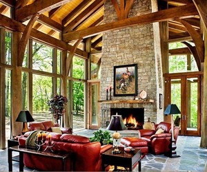 forest, living room, and living room ideas image