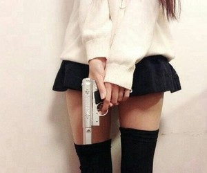 gun and girl image