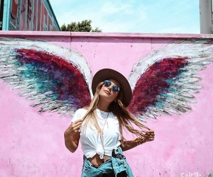 angel, fashion, and wings image