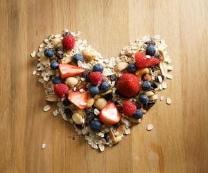 food, fruit, and granola image