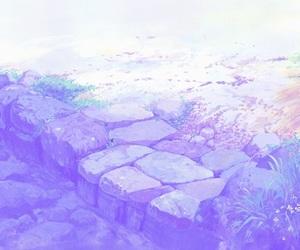anime, purple, and beautiful image