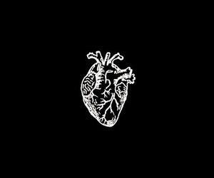 heart, art, and black image