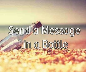 bottle and message image