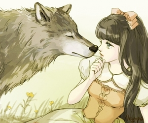 wolf, exo, and art image