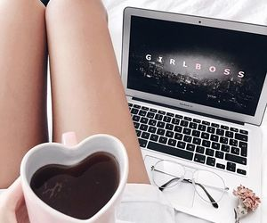coffee, tv show, and glasses image