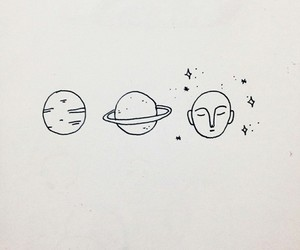 art, planets, and drawing image