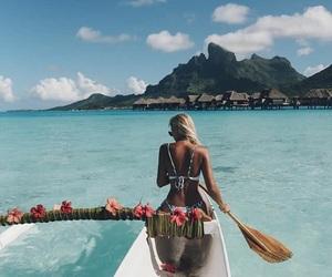 awesome, bikini, and hibiscus image