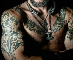 men, nordic, and tattoo image