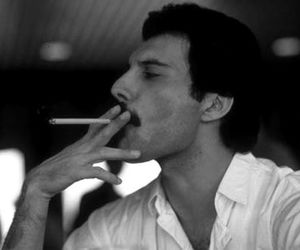 Freddie Mercury, Queen, and cigarette image