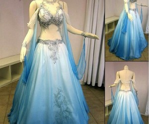 dress, blue, and fantasy image