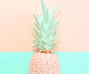 pineapple, pastel, and fruit image