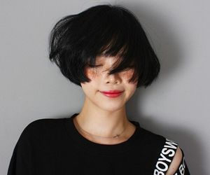 asian, girl, and short hair image