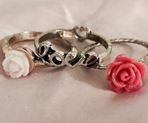 beauty, flowers, and jewelry image