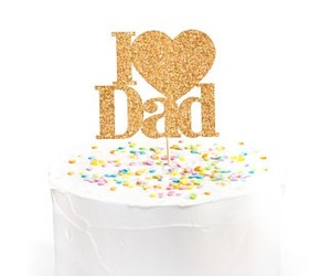 cake, confetti, and dad image