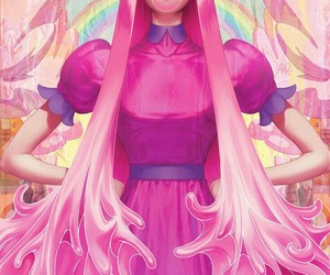 adventure time, art, and pink image