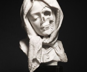 art, skull, and sculpture image