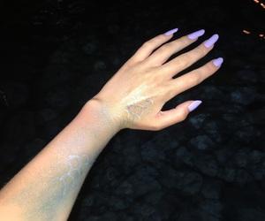mermaid, mermaids, and purple nails image