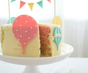 cake, pink, and green image