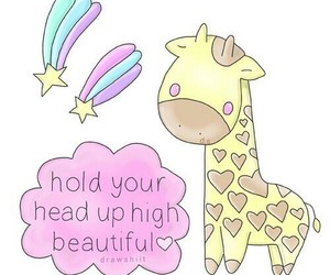 overlay, giraffe, and quote image