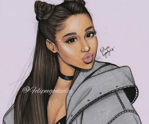 drawing, ariana, and grande image