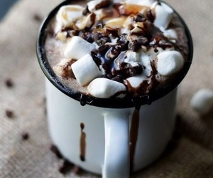 chocolate, winter, and food image