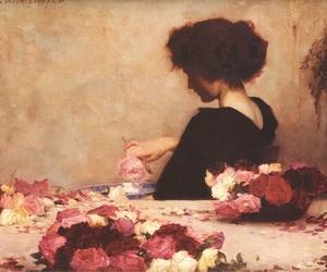 art, flowers, and herbert james draper image
