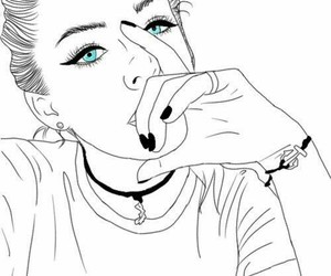outline, tumblr, and drawing image