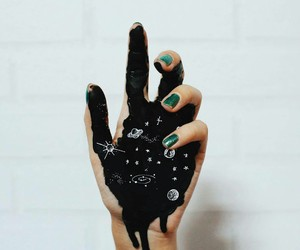 art, black, and hand image