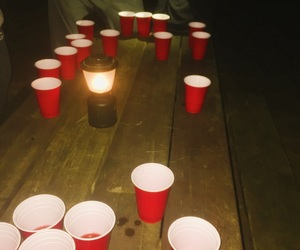camping, party, and drinking image