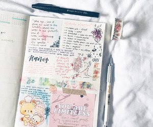 creative, journal, and motivation image