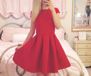 red homecoming dresses, homecoming dresses a-line, and homecoming dresses red image