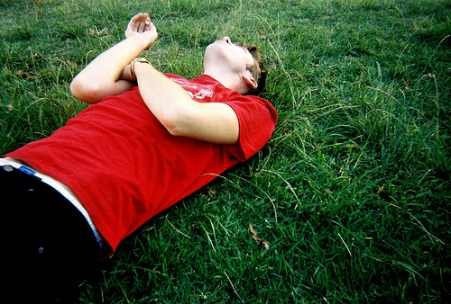 boy and grass image