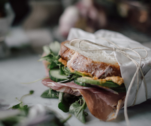 food, sandwich, and veggie image