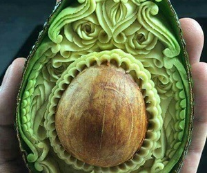 art, avocado, and food image