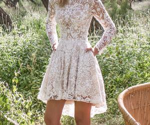 bridal, wedding dress, and pretty image