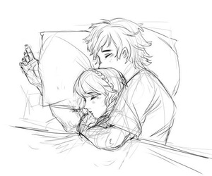 cuddle, httyd, and hiccstrid image