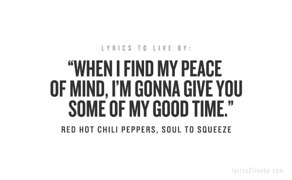 belle frasi red hot chili peppers