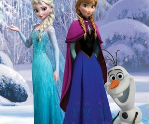 anna, olaf, and elsa image
