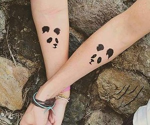 tattoo, panda, and friends image
