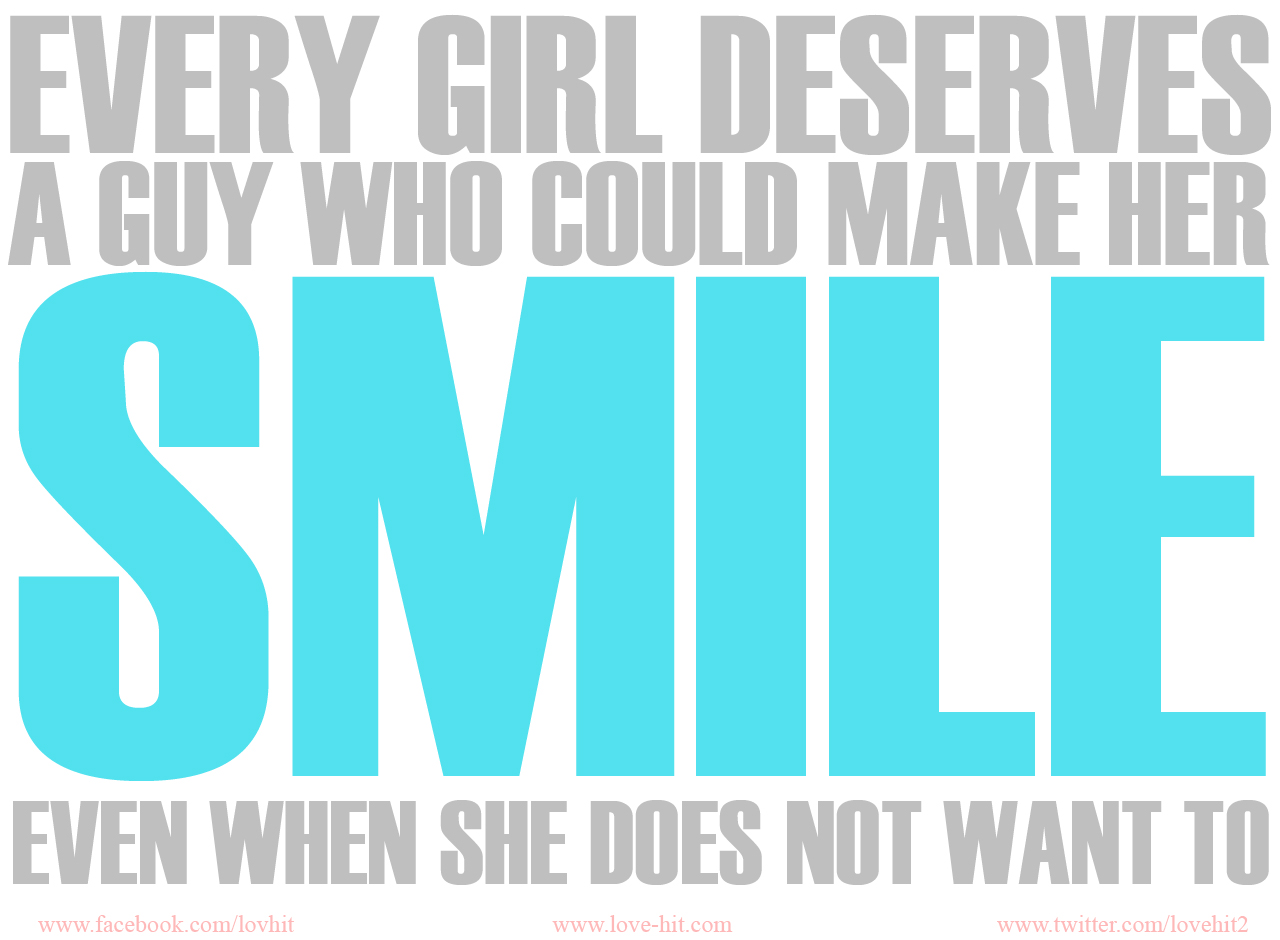 Making Her Smile Is As Important As Breathing