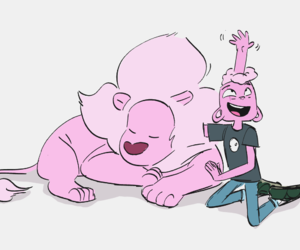 lars, lion, and steven universe image