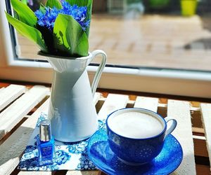 barry m, blue, and coffee image