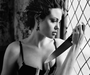 Angelina Jolie, knife, and sexy image